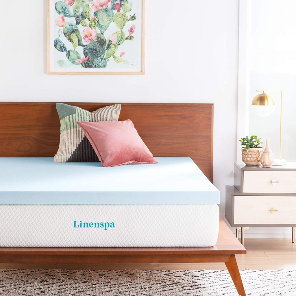 Linenspa Gel Infused Memory Foam Mattress Topper, 3 inches, Full