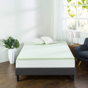 Zinus 1.5 Inch Green Tea Memory Foam Mattress Topper